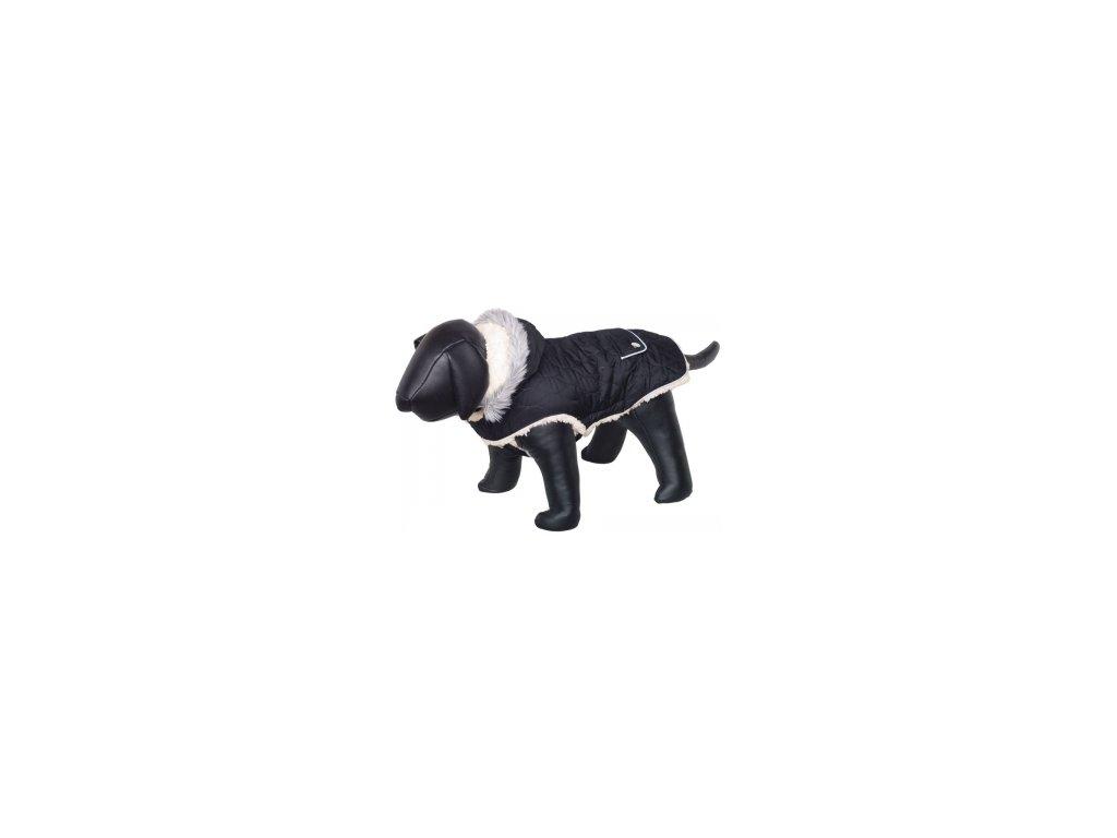 Nobby POLAR zimní bunda pro psa s kapucí černá