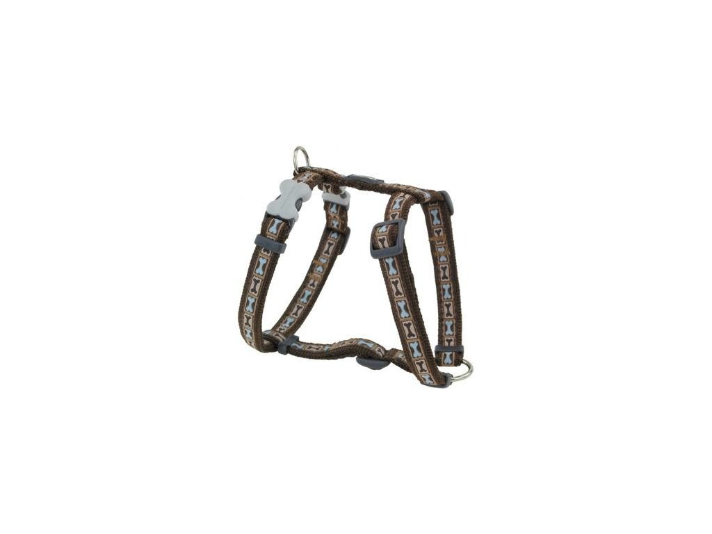 Postroj Red Dingo 12 mm x 30-44 cm - Bone Yard