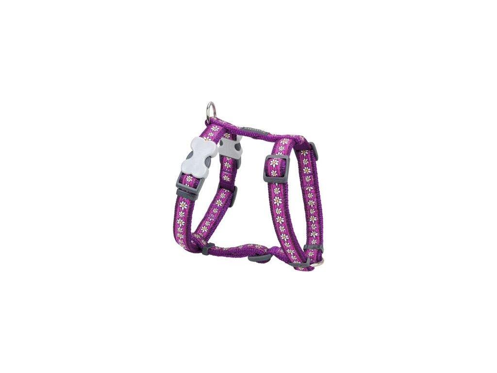 Postroj Red Dingo 12 mm x 30-44 cm - Daisy Chain Purple