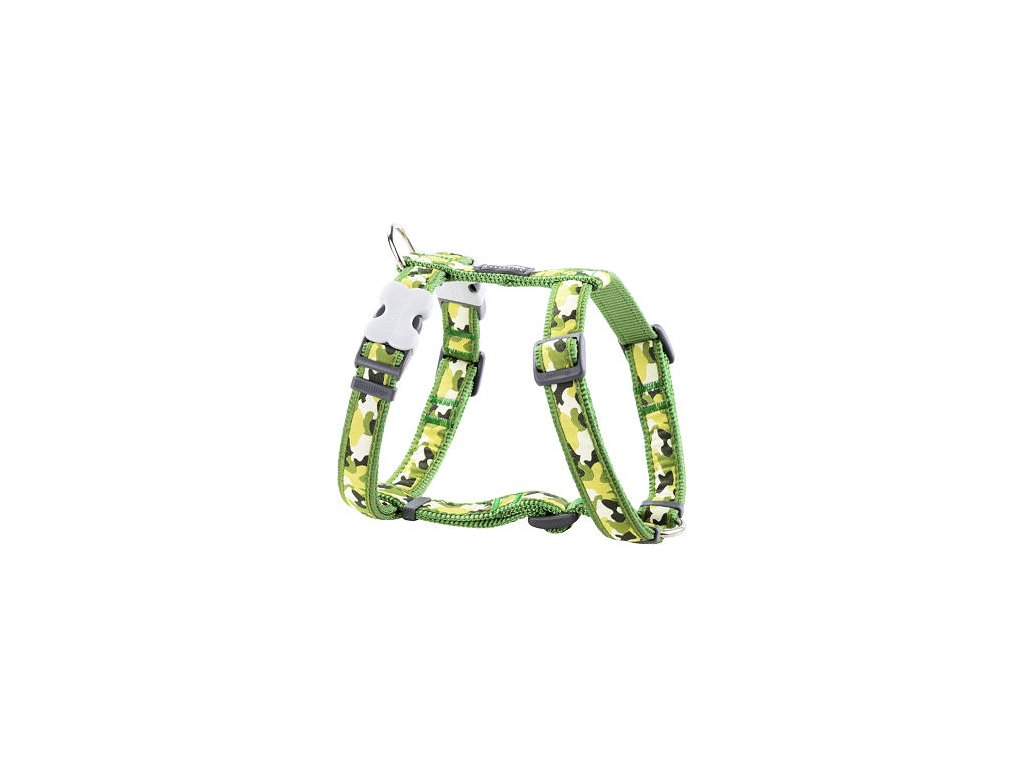 Postroj Red Dingo 12 mm x 30-44 cm - Camouflage Green