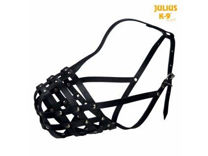 Julius-K9 náhubek hovězí kůže M černý