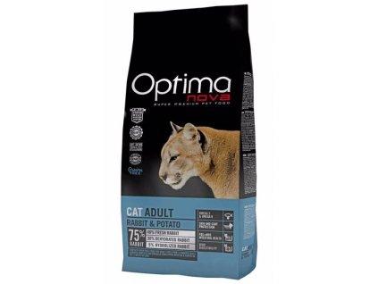 0020609 optimanova cat adult rabbit potato gf 2 kg 550