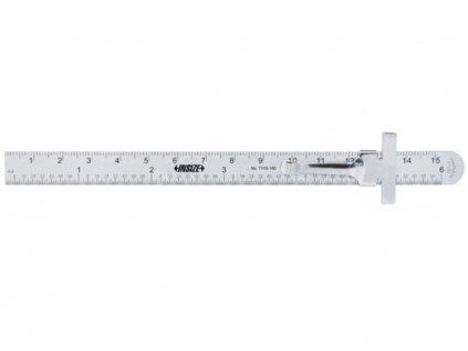 Insize-7119-150-acél-vonalzó-csúsztatható-klippel