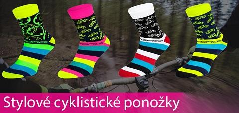 Stylové cyklistické a sportovní ponožky