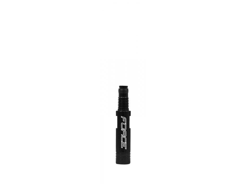 redukce hliníková gal. ventilku 21mm FORCE, černá