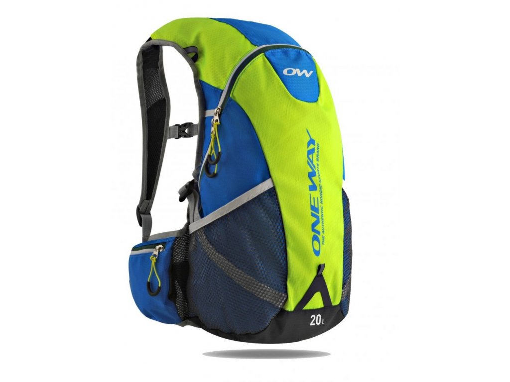 one way trail hydro backpack 20 l yellow blue