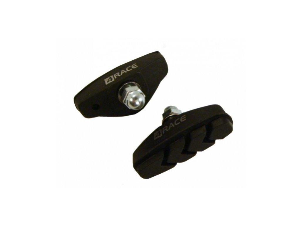 špalíky 4RACE silniční šroub černé 50mm 10 párů
