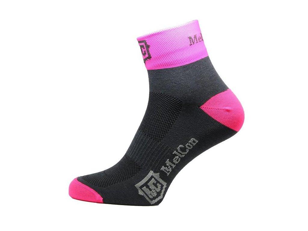 Ponožky MelCon Bikers růžové