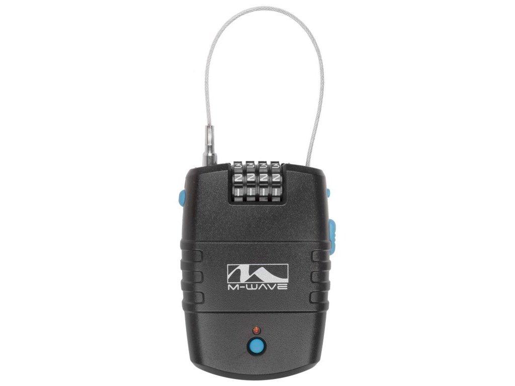 alarm-zámek lankový M-Wave kódový 2x600mm