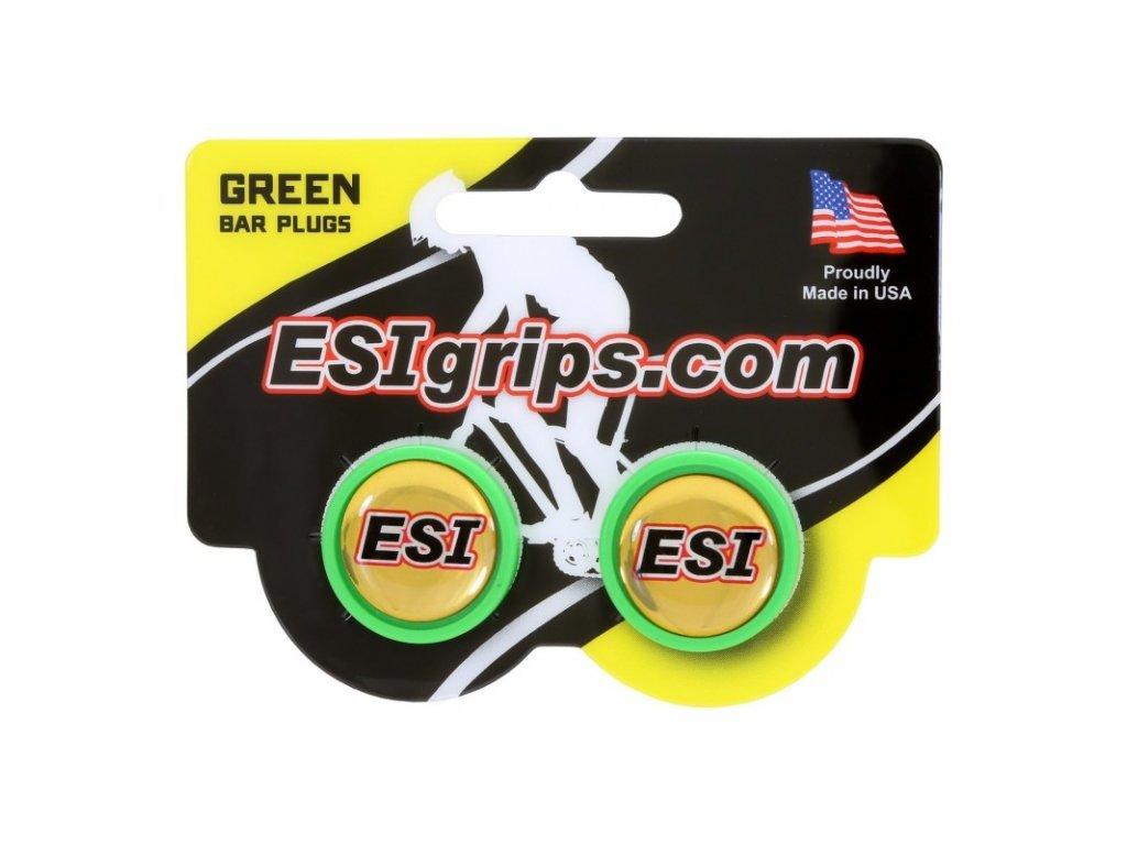 zátky řidítek ESI zelené