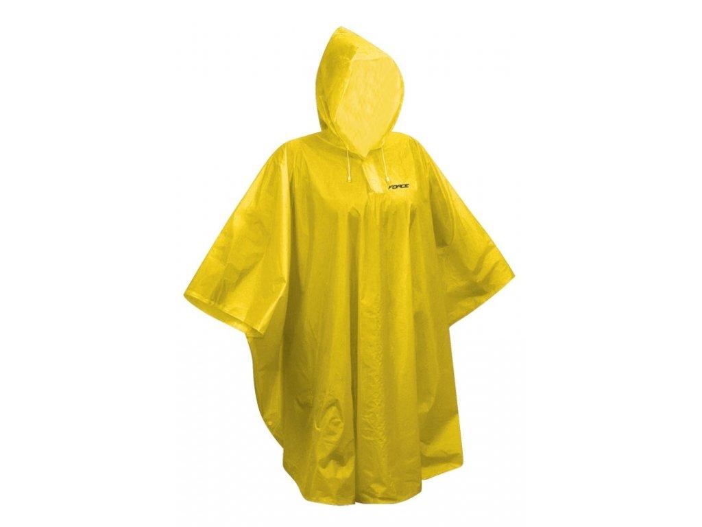 poncho FORCE dětské nepromokavé, žluté XS - M