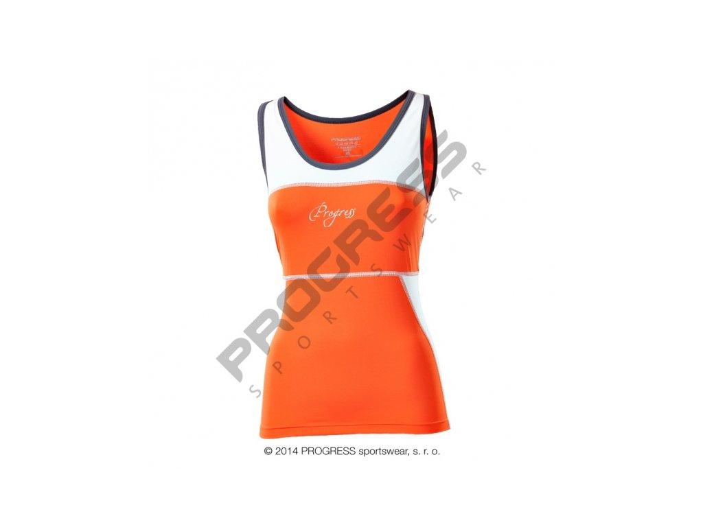 tílko dámské Progress KALIMERA oranžové