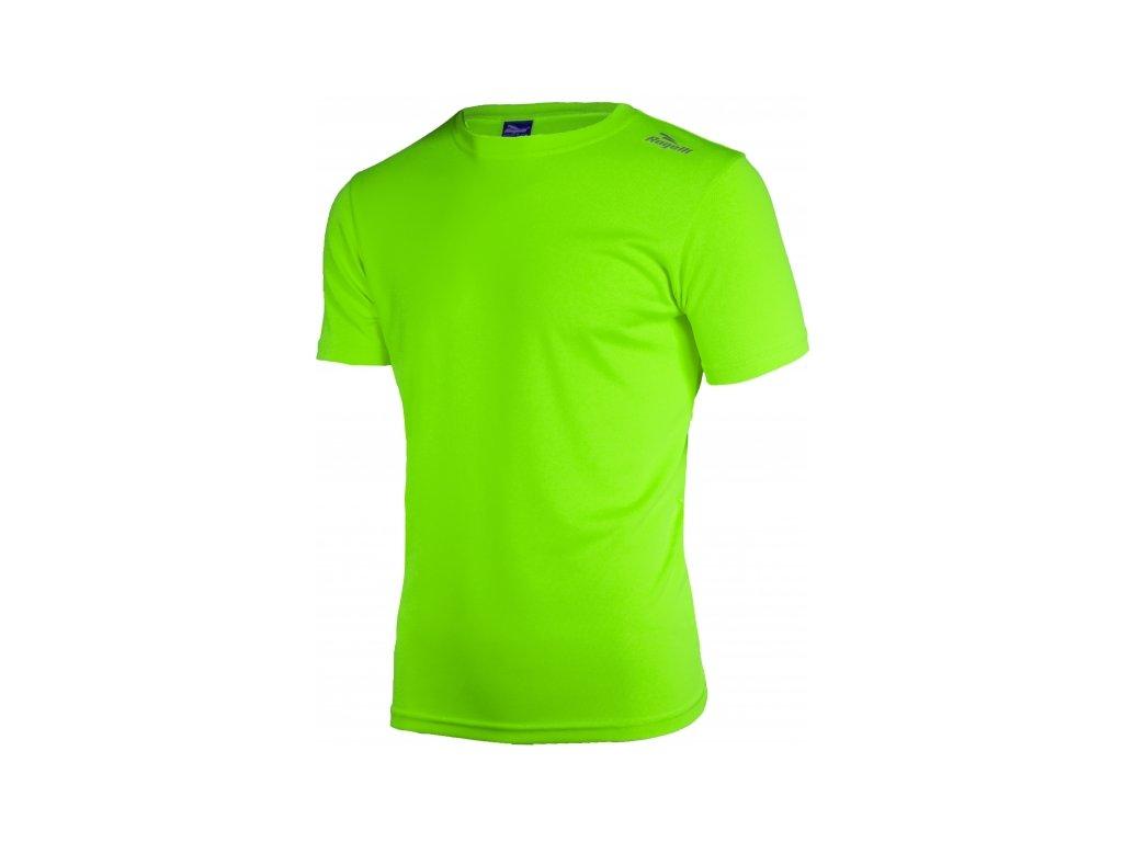 triko krátké pánské Rogelli PROMOTION reflexní zelené