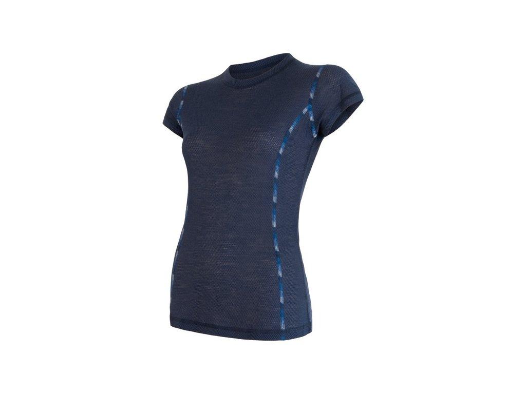 triko krátké dámské SENSOR MERINO AIR modré