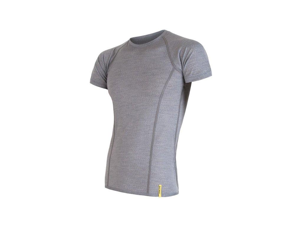 triko krátké pánské SENSOR MERINO ACTIVE šedé
