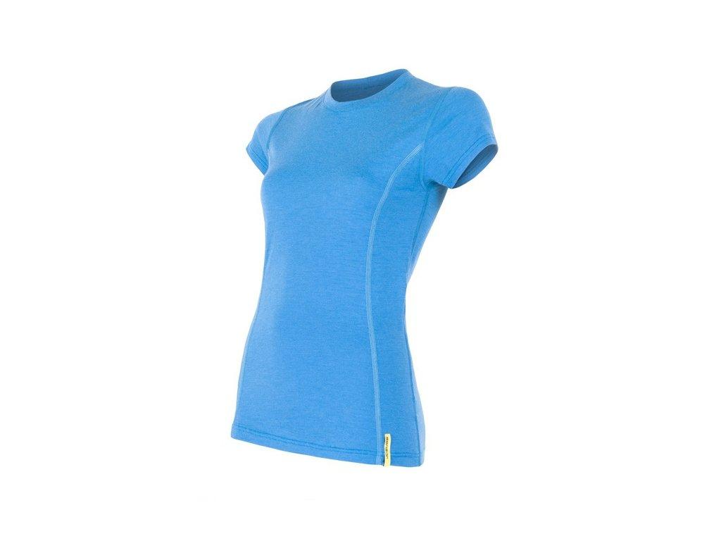 triko krátké dámské SENSOR MERINO ACTIVE modré