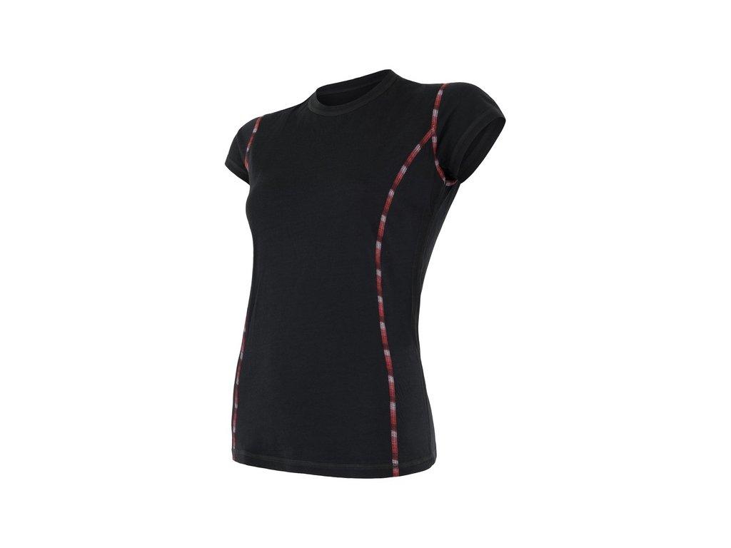 triko krátké dámské SENSOR MERINO AIR černé