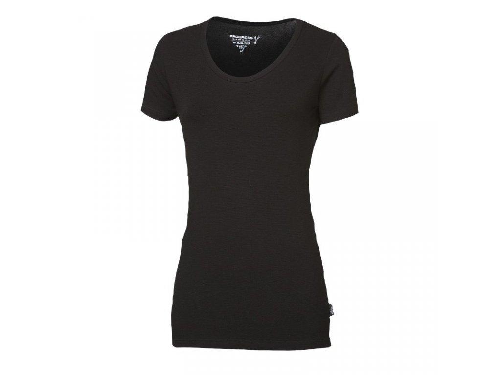 triko krátké dámské Progress SASA černé