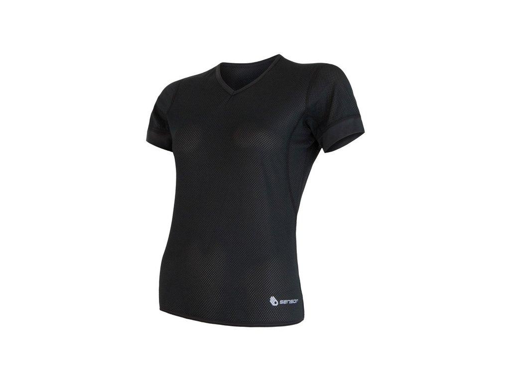 triko krátké dámské SENSOR COOLMAX AIR černé