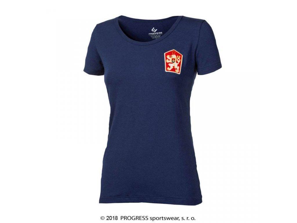 triko krátké dámská Progress KLEMENTYNA modré