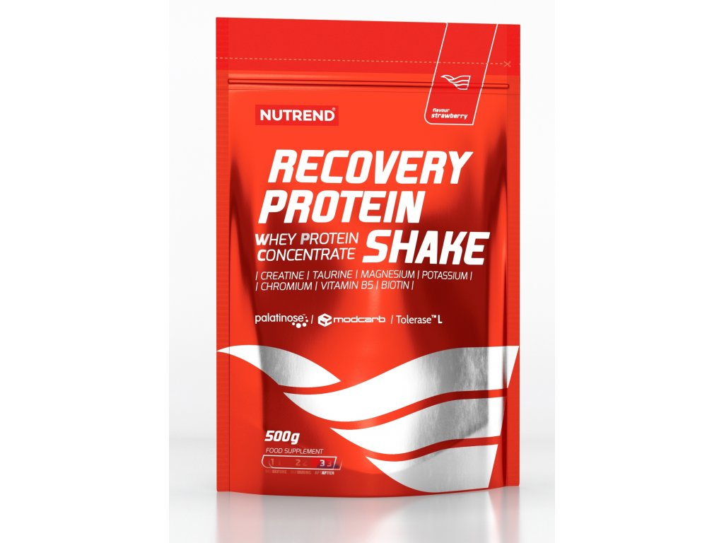 RECOVERY PROTEIN SHAKE, 500 g, jahoda