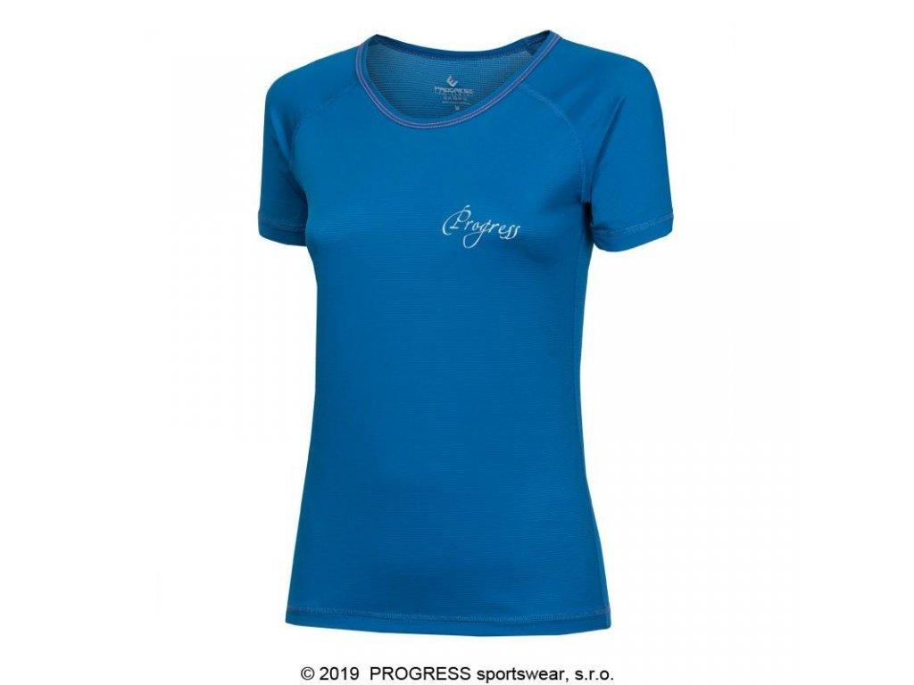 triko krátké dámské Progress ST NKRZ modré