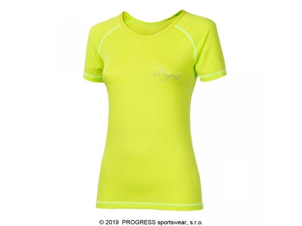 triko krátké dámské Progress NKRZ sv. zelené