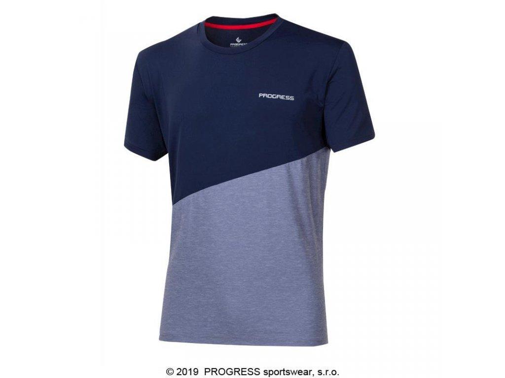 triko krátké pánské Progress MARATHON šedo/modré