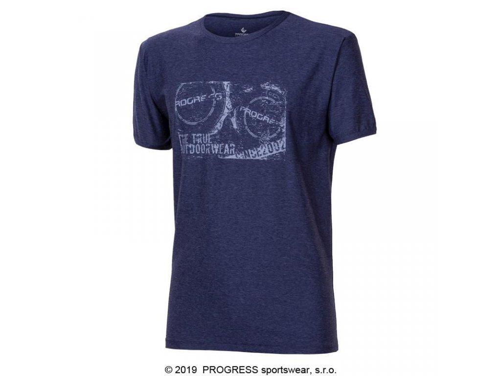 triko krátké pánské Progress  MAVERICK modrý melír