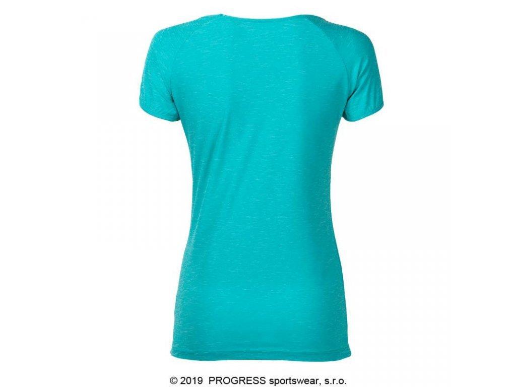 triko krátké dámské Progress PACIFICA sv. zelené