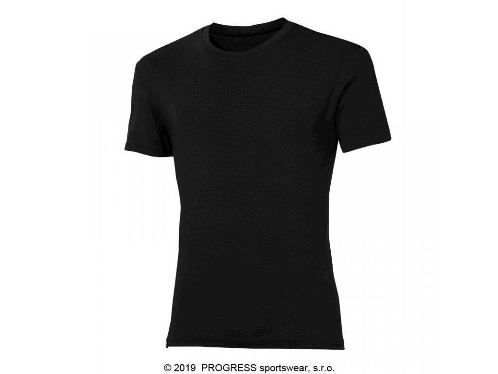 triko krátké pánské Progress PIONEER s bambusem černé