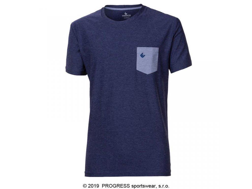 triko krátké pánské Progress MARK modré