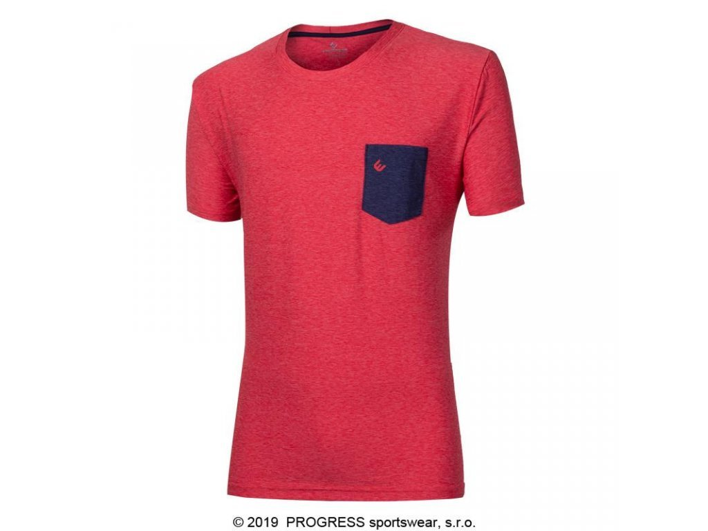 triko krátké pánské Progress MARK červené