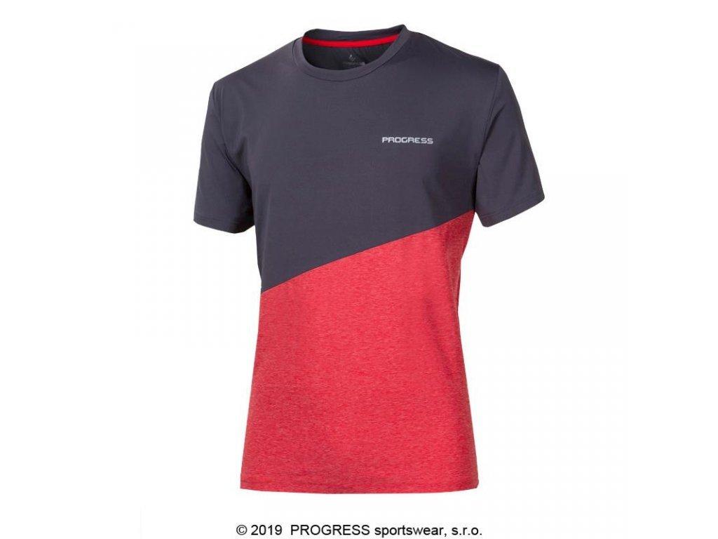 triko krátké pánské Progress MARATHON šedo/červené