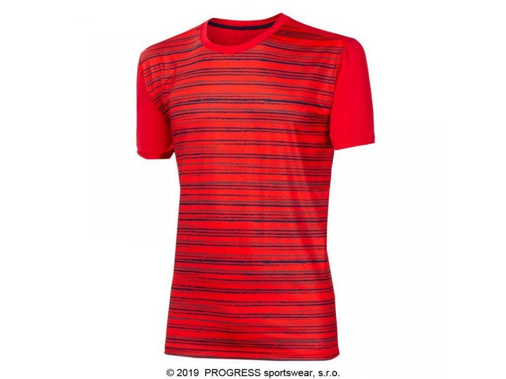 triko krátké pánské Progress POWER červené
