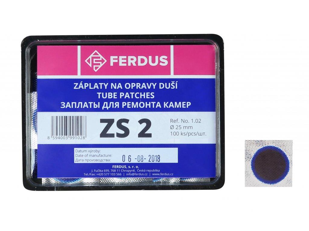 lepení-záplata FERDUS ZS2 kulatá 25mm  box 100ks