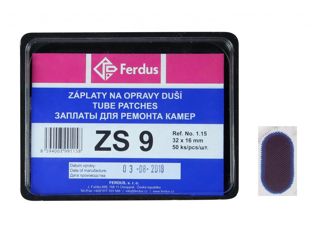 lepení-záplata FERDUS ZS9 ovál 32x16mm  box 50ks