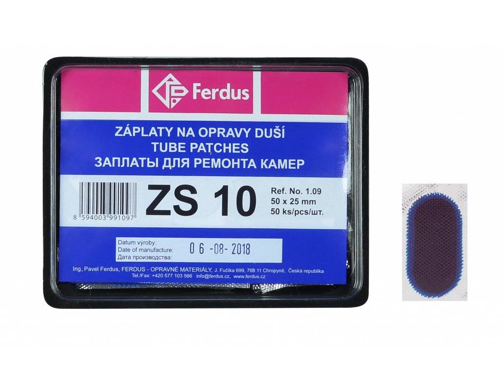 lepení-záplata FERDUS ZS10 ovál 50x25mm  box 50ks