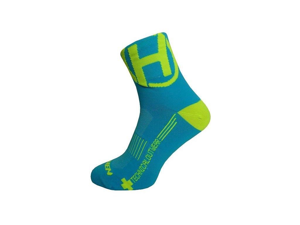 Ponožky HAVEN LITE Silver NEO blue/yellow 2 páry vel.