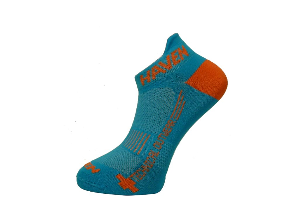 Ponožky HAVEN SNAKE Silver NEO blue/orange 2 páry vel.