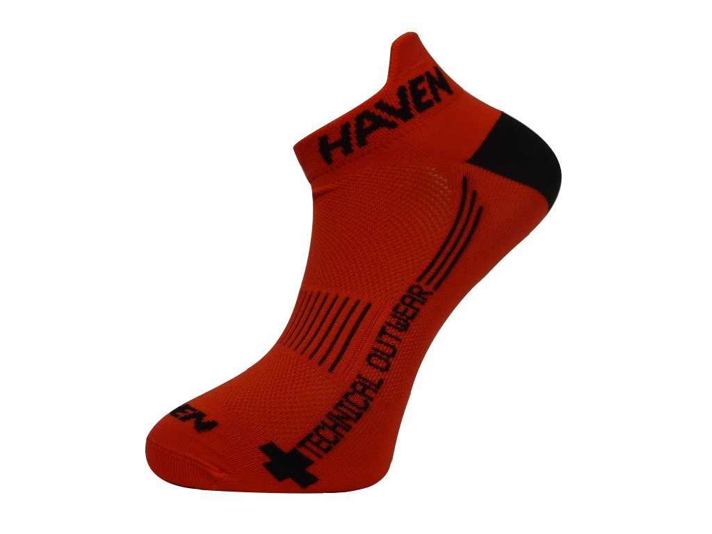 Ponožky HAVEN SNAKE Silver NEO red/black 2 páry vel.
