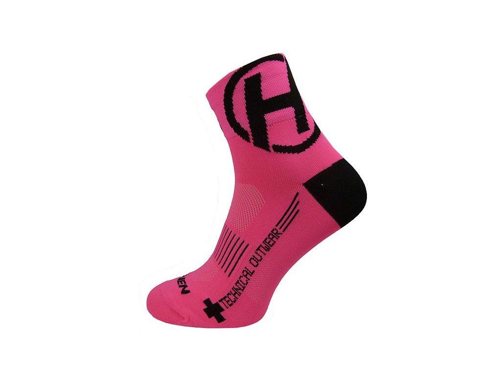 Ponožky HAVEN LITE Silver NEO pink/black 2 páry vel.