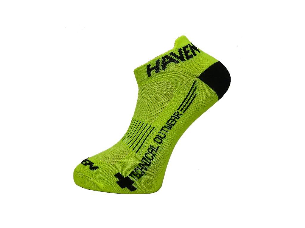 Ponožky HAVEN SNAKE Silver NEO yellow/black 2 páry vel.