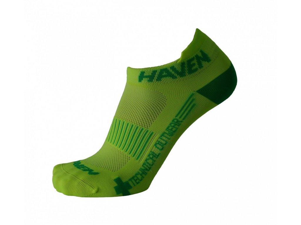 Ponožky HAVEN SNAKE Silver NEO yellow/green 2 páry vel.