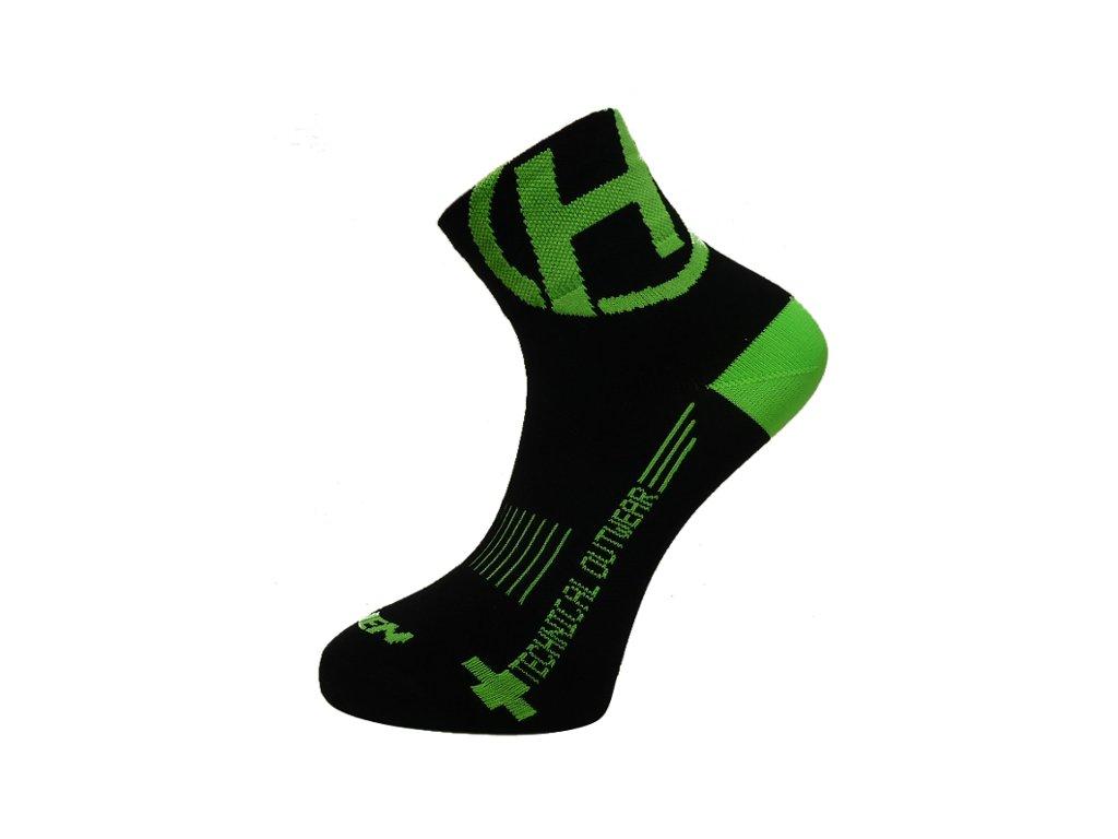 Ponožky HAVEN LITE Silver NEO black/green 2 páry vel.