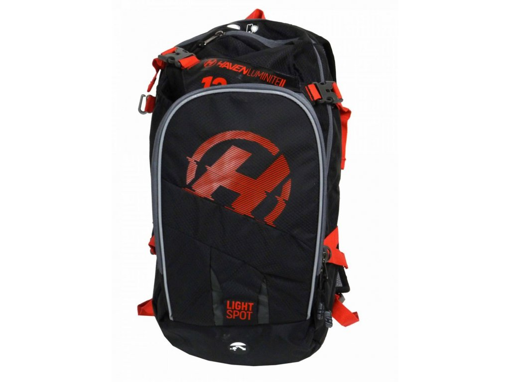 Hydratační batoh HAVEN LUMINITE II 12l black/red
