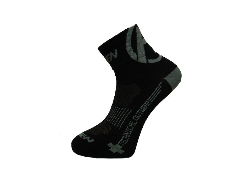 Ponožky HAVEN LITE Silver NEO black/grey 2 páry vel.