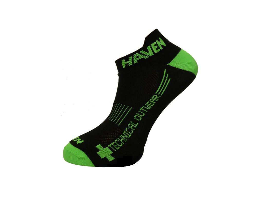 Ponožky HAVEN SNAKE Silver NEO black/green 2 páry vel.