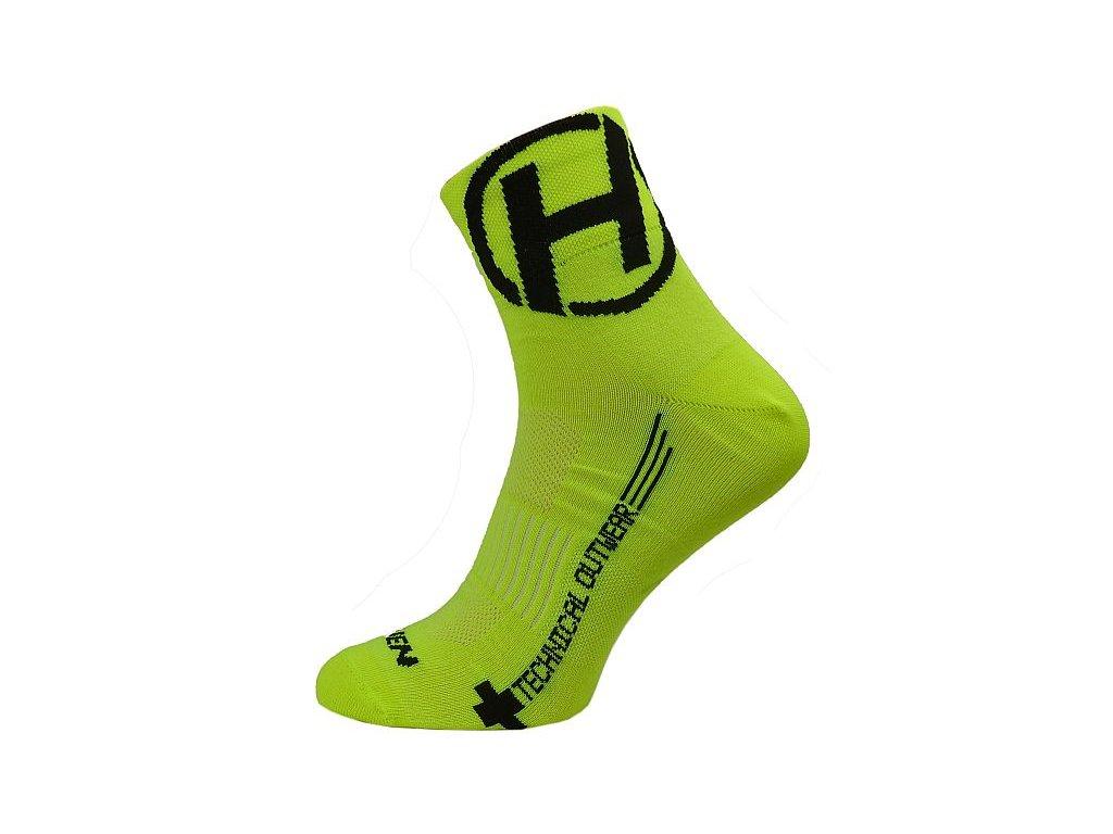 Ponožky HAVEN LITE Silver NEO yellow/black 2 páry vel.