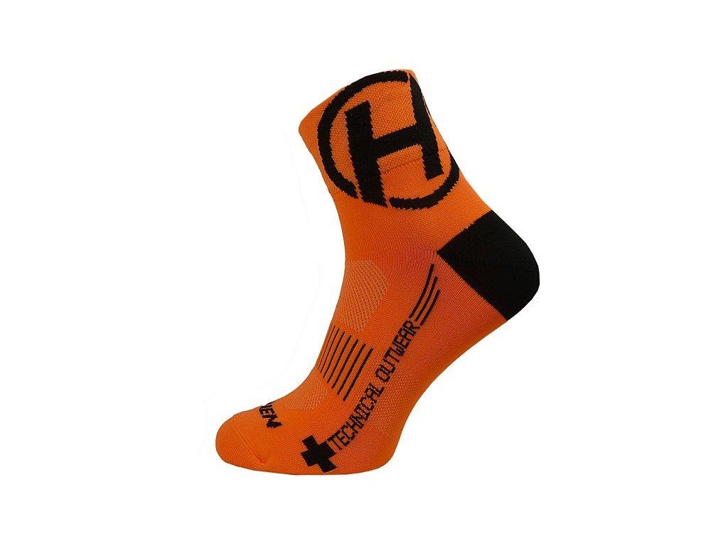 Ponožky HAVEN LITE Silver NEO orange/black 2 páry vel.